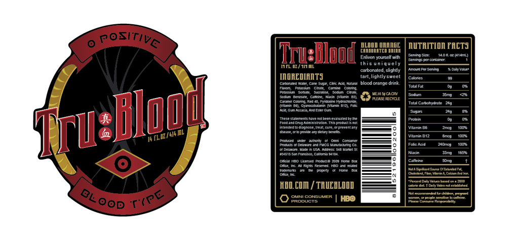 TruBlood Label Vector Resource
