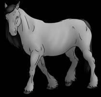 Greyscale Draft Horse Lines by lionsilverwolf