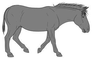 10pt Donkey/Mule Lineart by lionsilverwolf