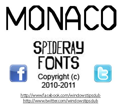 MONACO STITCH Font by SpideRaY