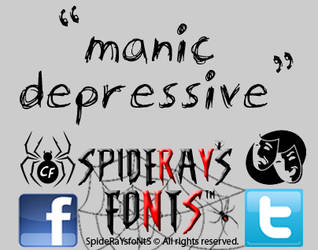 manic-depressive font by SpideRaY