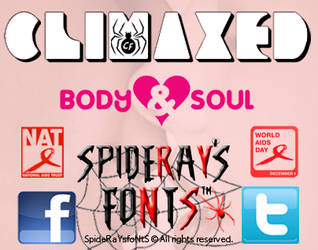 CLIMAXED font by SpideRaY