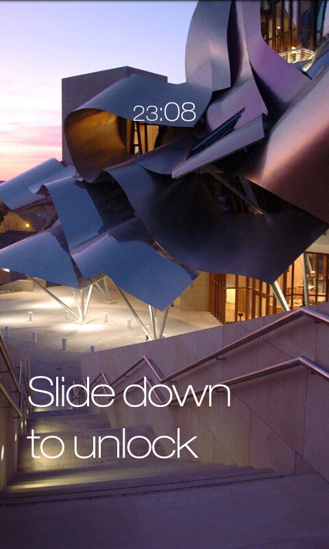 Slide White WidgetLocker Theme by milosstankostanko