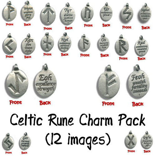 Celtic Rune Charm Pack by Sage-Dreamer