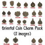 Oriental Coin Charm Pack