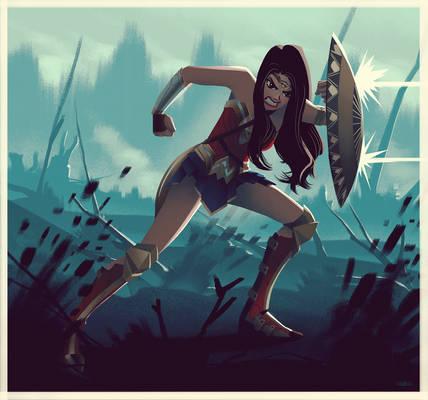 Wonder Woman in No Man's Land Animated