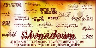 Shinedown Brushes by Mauzi