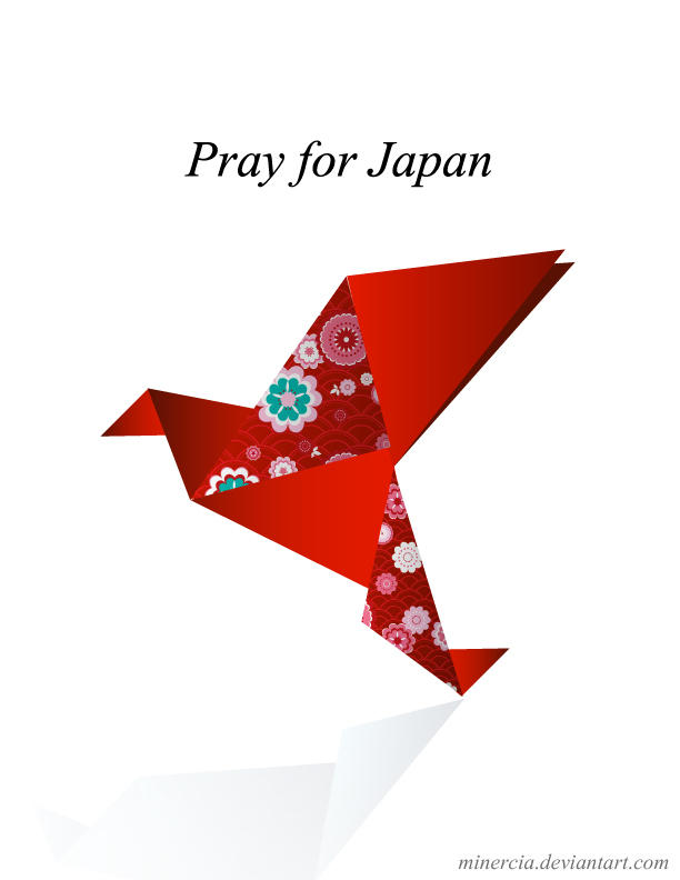 Pray for Japan by minercia ...
