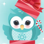 FREEBIE Owl Printable Holiday Card by minercia