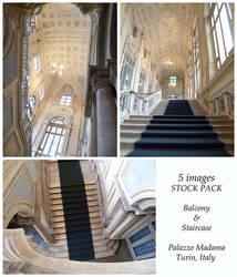 Palazzo Madama Balcony and Staircase Stock Pack