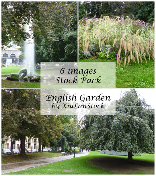 English Garden Stock Pack by XiuLanStock