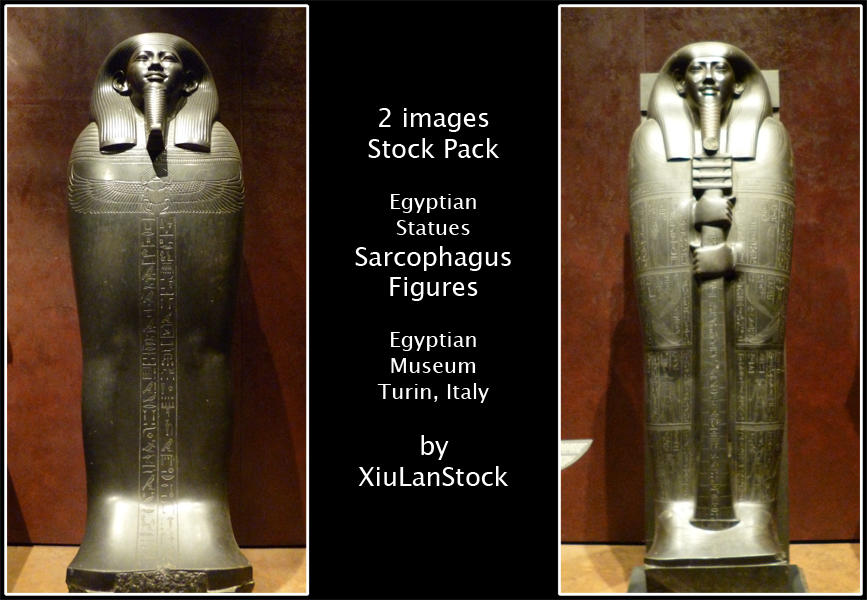 Egyptian Statues - Sarcophagus Figures by XiuLanStock