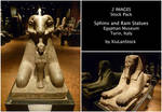 Egyptian Statues - Sphinx and Ram