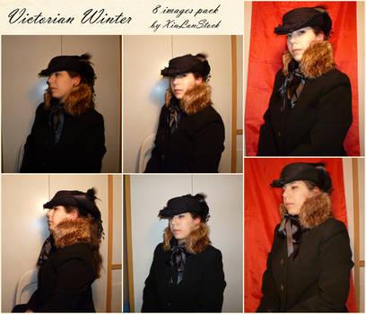 Victorian Winter Portrait Stock Pack