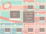 Sweet Vintage Scrapbooking Templates