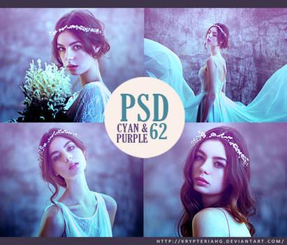 PSD 62 - Cyan and Purple