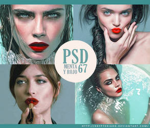 PSD 67 - Menta y Rojo
