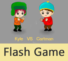 Kyle VS Cartman by dylancg