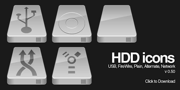 Silver HDD Icon 0.50 by Baddie