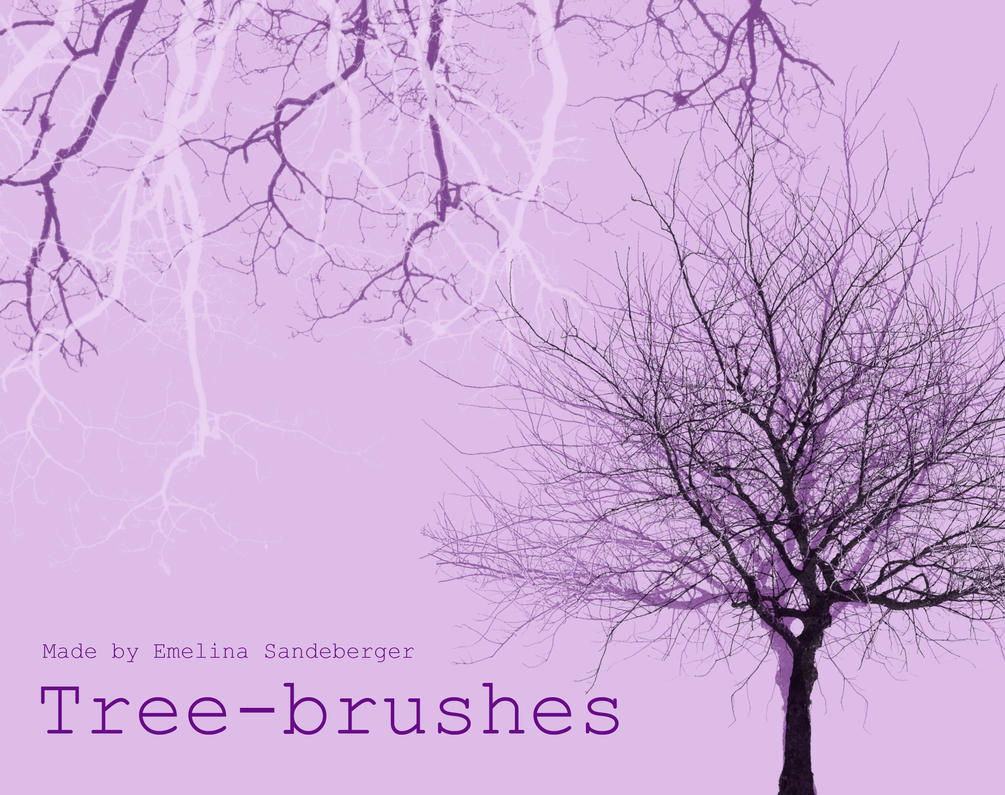 TREES AND BRANCHES - great brushes for photoshop by EmelinaS
