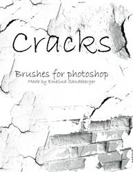 CRACKS AND DECAY - 4 brushes for photoshop by EmelinaS