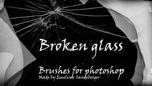 BROKEN GLASS - 4 different brushes for photoshop