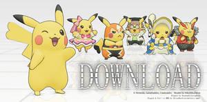 MMD Pikachu Mega Pack DL! by Jakkaeront