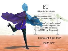 MMD Fi (Hyrule Warriors) DL by Jakkaeront