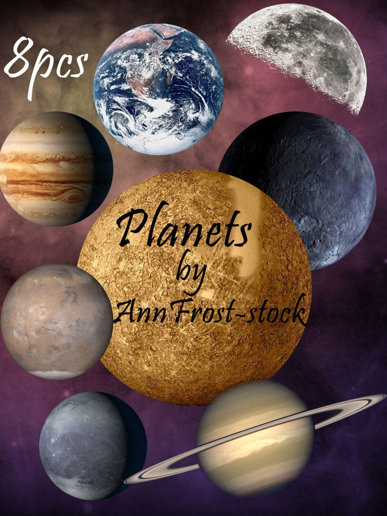 Planets pack by AnnFrost-stock