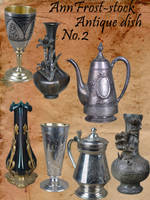 Antique dish pack II by AnnFrost-stock