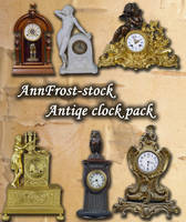 Antique clock pack by AnnFrost-stock