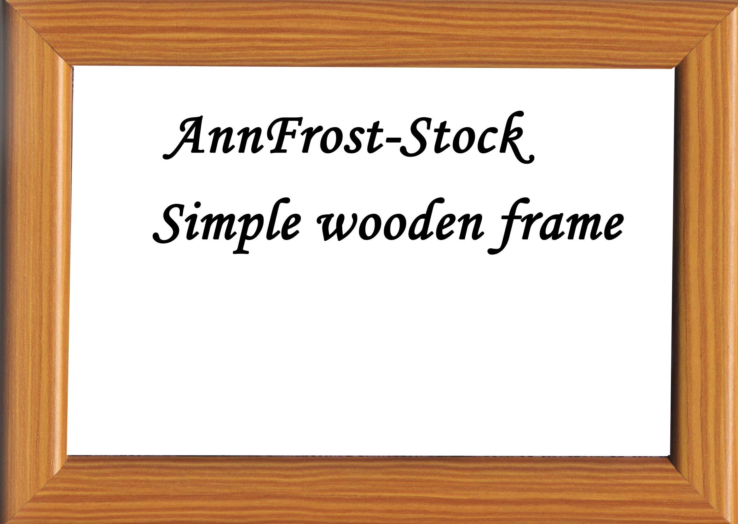simple wooden frame by annfrost stock