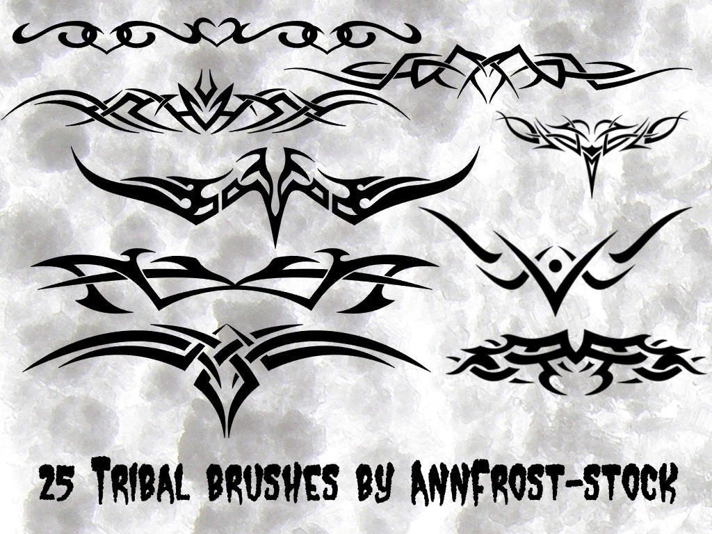 Tribal Tattoo brush set by AnnFrost-stock