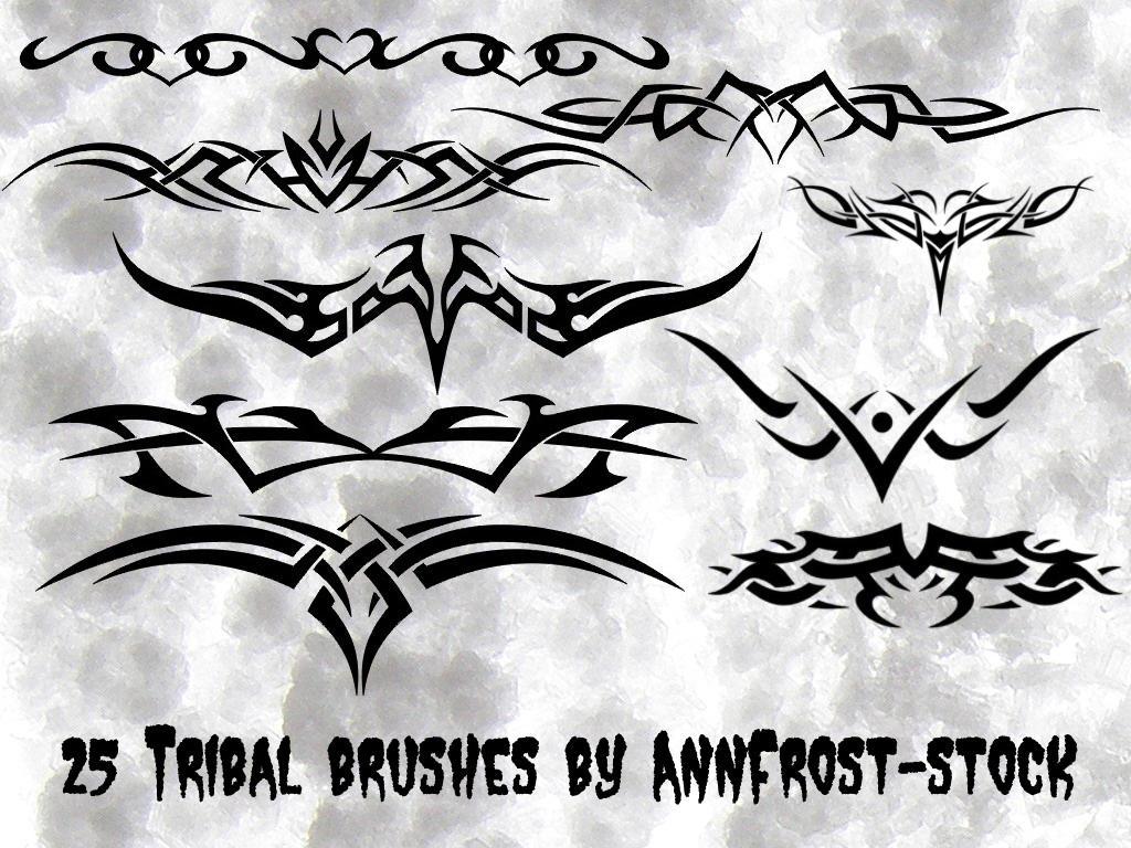 Tribal Tattoo Brush Set By Annfrost Stock On Deviantart
