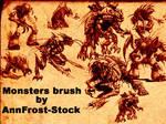 Monsters brush set