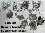 Body art flowers brush set