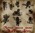 Little demons brush set