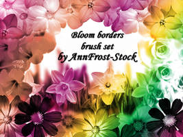 Bloom borders brush set by AnnFrost-stock