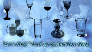 Let's drink brush set