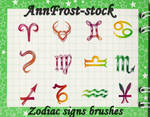 Zodiac signs brushes