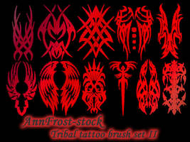 Tribal tattoo brushes II by AnnFrost-stock