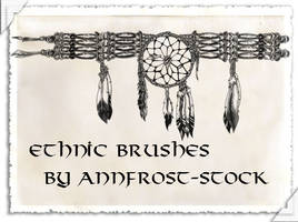 Ethnic brushes by AnnFrost-stock