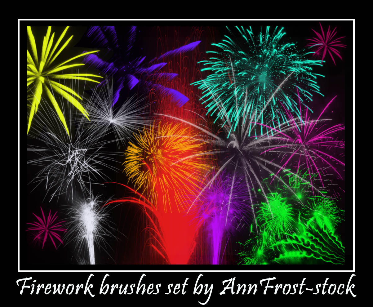 Fireworks brush by AnnFrost-stock