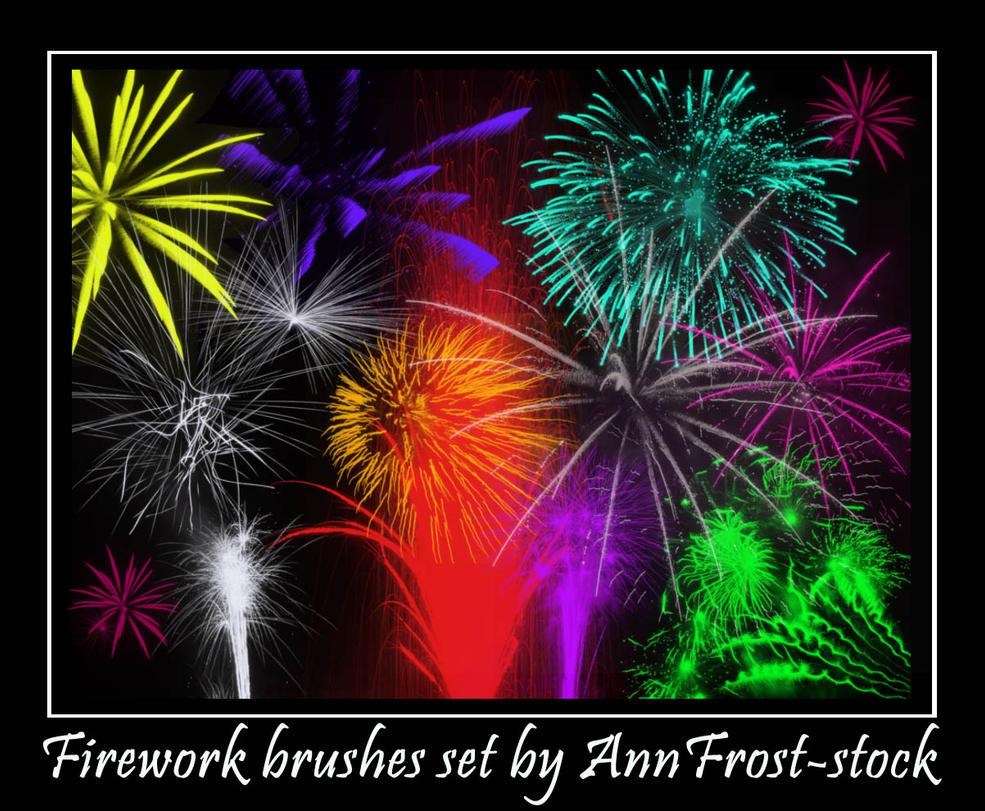 Fireworks brush by AnnFrost-stock