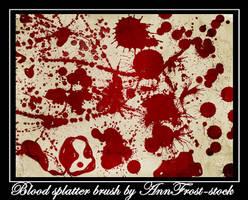 Blood splatter brush