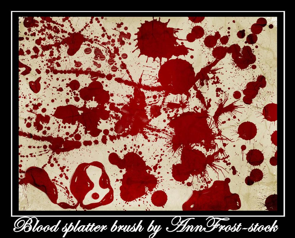 Blood splatter brush by AnnFrost-stock