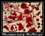 Blood splatter brush