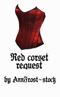 Red corset request by AnnFrost-stock
