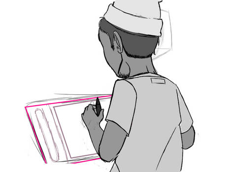 [Animation] [WIP02] On the tablet