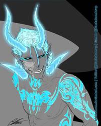 BLEACH: Grimmjow --Hellfire Blue-- by blackstorm